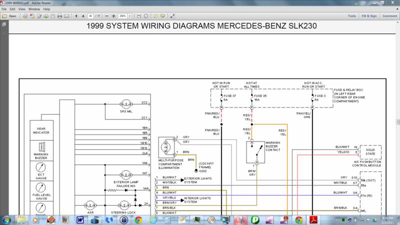 Mercedes Benz Slk 230 Wiring Diagram - Wiring Diagram